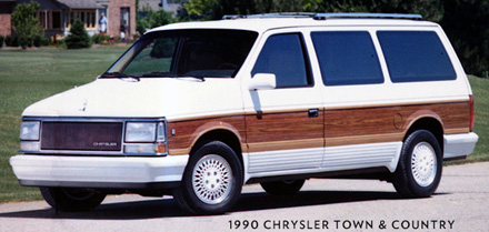 1990 Chrysler Town & Country from brochure.