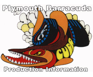 Plymouth Barracuda Production Numbers